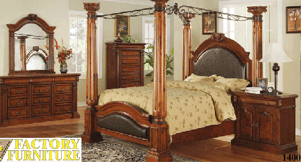 Cherry And Leather Cathedral Bed 1400 Factory Furniture Greenville Ms Call 800 569 3904