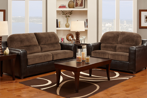 Bicast Champion Chocolate Sofa Love Seat 5400 Factory Furniture Greenville Ms Call 800